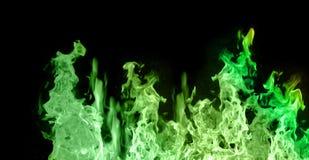 зеленый цвет пламен Стоковые Фото