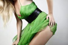 зеленый цвет платья Стоковое Изображение