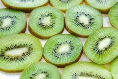 Зеленый цвет плодоовощ кивиа на белой предпосылке Стоковая Фотография RF