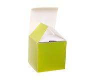 зеленый цвет подарка коробки открытый Стоковое Изображение RF