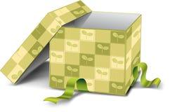 зеленый цвет подарка коробки Бесплатная Иллюстрация