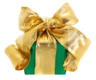зеленый цвет подарка коробки Стоковая Фотография