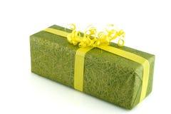 зеленый цвет подарка коробки Стоковое Фото