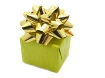 зеленый цвет подарка коробки Стоковое Изображение RF
