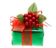 зеленый цвет подарка рождества коробки Стоковые Изображения RF
