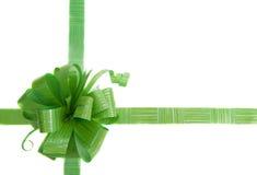 зеленый цвет подарка смычка Стоковое Фото