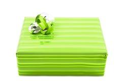 зеленый цвет подарка Стоковая Фотография