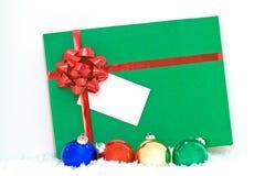 зеленый цвет подарка Стоковые Фото
