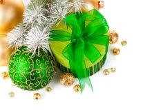 зеленый цвет подарка firtree рождества ветви Стоковое Фото