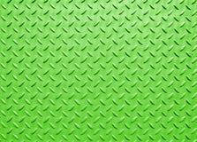 Зеленый цвет покрасил промышленный стальной покрывать с текстурированной решеткой картиной настила стоковое изображение rf