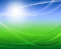 зеленый цвет поля предпосылки Стоковые Изображения