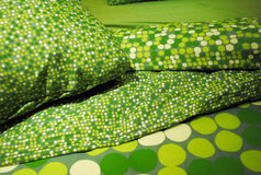 зеленый цвет постельных принадлежностей стоковые изображения rf