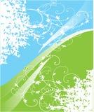 зеленый цвет предпосылки голубой Иллюстрация вектора