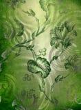 зеленый цвет предпосылки декоративный флористический Стоковые Изображения