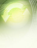 зеленый цвет предпосылки рециркулирует Стоковые Изображения RF
