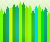 зеленый цвет предпосылки стрелок Стоковые Изображения RF