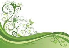 зеленый цвет предпосылки флористический иллюстрация вектора