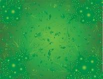 зеленый цвет предпосылки флористический Стоковое Изображение