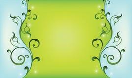 зеленый цвет предпосылки swirly Стоковое Изображение