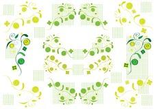 зеленый цвет предпосылок Стоковое Изображение RF