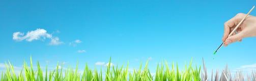 зеленый цвет препятствовал делает мир s Стоковая Фотография RF