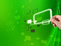 зеленый цвет предпосылки цифровой Стоковое фото RF