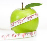 зеленый цвет принципиальной схемы яблока dieting Стоковая Фотография