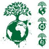 зеленый цвет принципиальных схем Стоковые Изображения