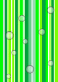 зеленый цвет пузырей вниз Стоковая Фотография RF