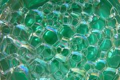 зеленый цвет пузырей стоковое изображение