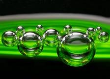зеленый цвет пузырей Стоковые Изображения