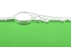 зеленый цвет пузырей Стоковое Фото