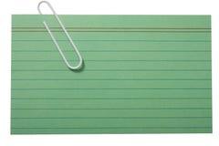 зеленый цвет пустой карточки Стоковые Фотографии RF