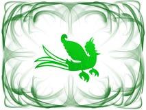 зеленый цвет рамки птицы Стоковое Изображение RF