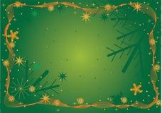 зеленый цвет рамки рождества иллюстрация вектора