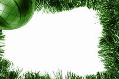 зеленый цвет рамки рождества bauble Стоковое Фото