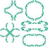 зеленый цвет рамки Стоковые Фото