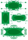 зеленый цвет рамок Стоковые Изображения RF