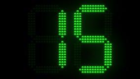 Зеленый цвет резвится комплекс предпусковых операций часов съемки от 30 бесплатная иллюстрация