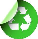 зеленый цвет рециркулирует стикер Стоковые Фото