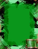 зеленый цвет рождества граници Стоковые Изображения RF