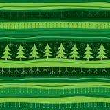 зеленый цвет рождества предпосылки безшовный Стоковые Изображения RF
