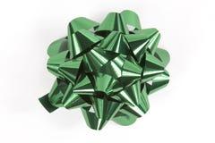зеленый цвет рождества смычка стоковое изображение