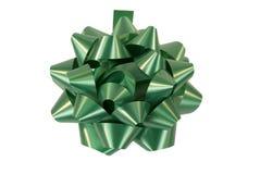 зеленый цвет рождества смычка Стоковые Изображения