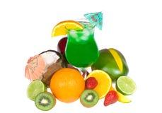 зеленый цвет свежих фруктов коктеила Стоковое Изображение