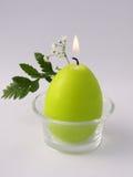 зеленый цвет свечки Стоковое Фото