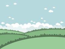 зеленый цвет сельской местности Стоковое Изображение