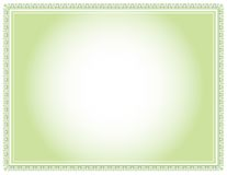 зеленый цвет сертификата Стоковое Фото