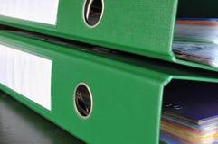 зеленый цвет скоросшивателя Стоковая Фотография