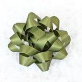 зеленый цвет смычка Стоковые Изображения